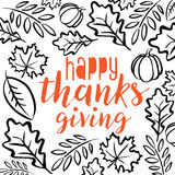 Happy Thanksgiving Day. Logotype.  logo template. Thanksgiving Day card template. Happy Thanksgiving banner, flyer Royalty Free Stock Image