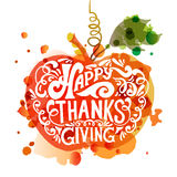 Happy Thanksgiving Day logotype Royalty Free Stock Photo