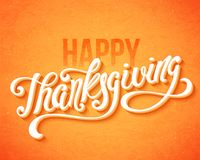 Happy Thanksgiving Day. Happy Thanksgiving Day poster with hand drawn lettering. Vector illustration Stock Image