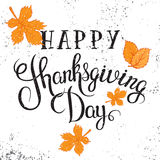 Happy Thanksgiving Day poster. Royalty Free Stock Image