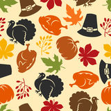 Happy Thanksgiving Day seamless pattern with Royalty Free Stock Photography