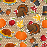 Happy Thanksgiving Day seamless pattern with vector illustration