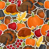 Happy Thanksgiving Day seamless pattern with Royalty Free Stock Image