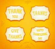 Happy Thanksgiving day sticker stock photos