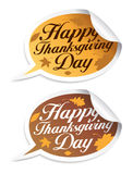 Happy Thanksgiving Day stickers. Royalty Free Stock Images