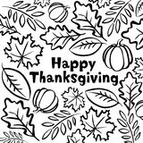 Happy Thanksgiving day. Traditional Thanksgiving symbols. Freehand vector drawings. Happy Thanksgiving day Royalty Free Stock Photo