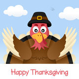 Happy Thanksgiving Day with Turkey Stock Images