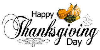 Happy Thanksgiving Day Type Royalty Free Stock Photo