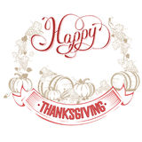Happy Thanksgiving day Stock Photos