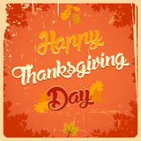 Happy Thanksgiving day vintage poster. With calligraphy title Stock Image