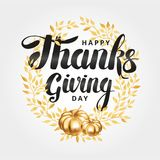 Happy thanksgiving day wreath Royalty Free Stock Photos