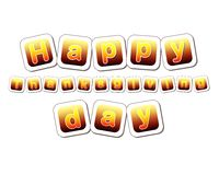 Happy thanksgiving day in yellow brown cards Stock Photo