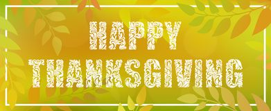 Happy Thanksgiving. Decorative Font made in swirls and floral elements. Stock Images