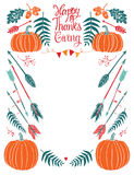 Happy Thanksgiving design card for menu or invitation Royalty Free Stock Photography