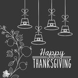 Happy thanksgiving design. Vector illustration eps10 graphic Royalty Free Stock Photo