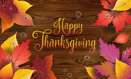 Happy Thanksgiving fall leaves wallpaper Royalty Free Stock Photo