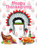 Happy Thanksgiving festival celebration background Royalty Free Stock Images
