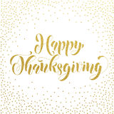 Happy Thanksgiving gold glitter greeting card Royalty Free Stock Photo