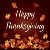 Happy thanksgiving graphic with gradient falling leaves Stock Photo