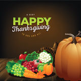 Happy Thanksgiving greeting card design Royalty Free Stock Photography