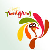 Happy Thanksgiving greeting card Stock Image