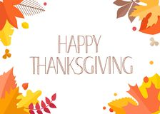 Happy Thanksgiving greeting card with handdrawn text. Vector illustration vector illustration