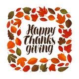 Happy thanksgiving, greeting card. Holiday banner. Vector illustration royalty free illustration
