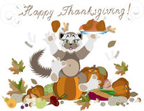 Happy Thanksgiving greeting card.Illustrations. Ca Royalty Free Stock Image