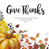 Happy Thanksgiving Greeting card, postcard design with Autumn se Royalty Free Stock Image