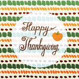 Happy thanksgiving greeting card with pumpkin and Royalty Free Stock Photo