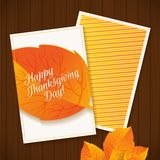 Happy Thanksgiving greeting card Royalty Free Stock Image