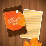 Happy Thanksgiving greeting card Royalty Free Stock Images