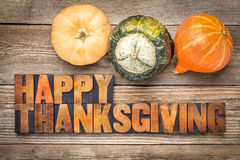 Happy Thanksgiving greeting card Stock Images