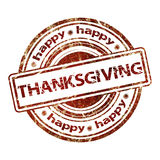Happy Thanksgiving Grunge Rubber Stamp Stock Photos