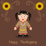 Happy Thanksgiving - Happy Native Woman Stock Photos