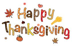 Happy thanksgiving. Background with pumpink and leaves Stock Image