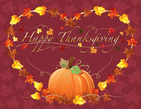 Happy Thanksgiving Heart and pumpkins background Royalty Free Stock Images