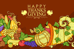 Happy Thanksgiving holiday doodle Stock Photo