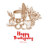 Happy Thanksgiving Holiday greeting card Stock Images