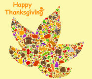 Happy Thanksgiving holiday greeting card Stock Image