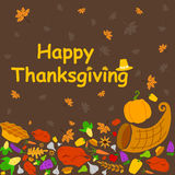 Happy Thanksgiving holiday greeting card Royalty Free Stock Photos
