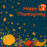 Happy Thanksgiving holiday greeting card Royalty Free Stock Images