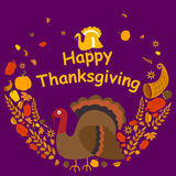 Happy Thanksgiving holiday greeting card Stock Photos