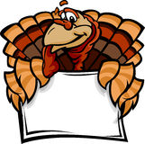 Happy Thanksgiving Holiday Turkey Holding Sign vector illustration