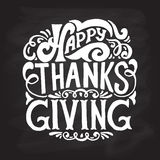 Happy thanksgiving icon, logo or badge Stock Image