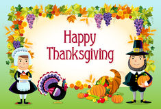 Happy thanksgiving. Illustration of happy thanksgiving day background Stock Images