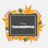 Happy thanksgiving. Illustration of happy thanksgiving design Stock Image