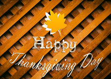 Happy thanksgiving ilustration wooden background Stock Photos