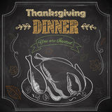 Happy Thanksgiving invitation card Stock Image
