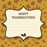 Happy Thanksgiving Invitation Stock Photos
